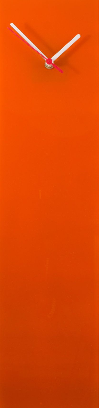 Orange clock ModernGlass clock Vibrant orange by ReformationsUK