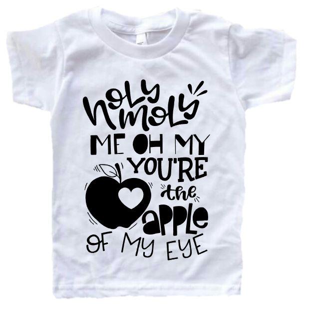 apple of my eye, valentines day shirt, kids valentines outfit, vday shirt, valentines day outfit, unisex valentines day shirt