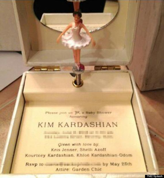 kim kardashians baby shower | Kim Kardashian's Baby Shower Invite Is The Most Over The Top ...