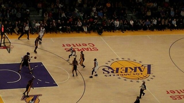 Lakers vs. kings. Staple Center