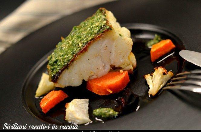 Baccalà con salsa al prezzemolo e verdure autunnali   SICILIANI CREATIVI IN CUCINA   di Ada Parisi