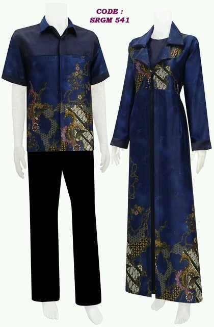 gamis batik model jubah, bahan satin velvet+ kain semi sutera, harga Rp.210.000/pasang  hubungi kami di 0858 6682 1362