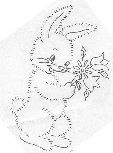 unknown workbasket rabbit with flowers | Flickr - Photo Sharing!