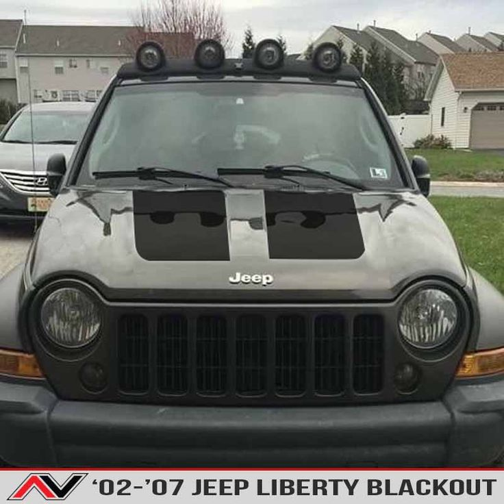 <p><strong>Blackout Hood Decal available in a variety of finishes, comes with  application kit and fits a Jeep Liberty KJ 2002-2007.  Comes with a full installation kit everything you need inside!   $13.95 installation kit included with each blackout purchase free!</strong></p> <p> </p>
