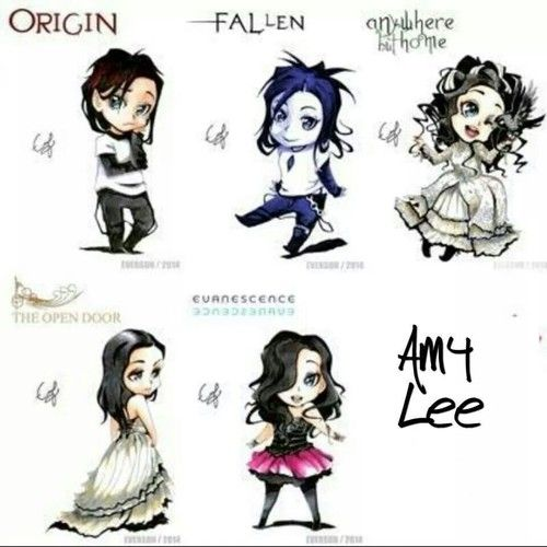 Amy Lee from Evanescence  Style Anime Chibi. THIS IS ADORABLE :D:D:D