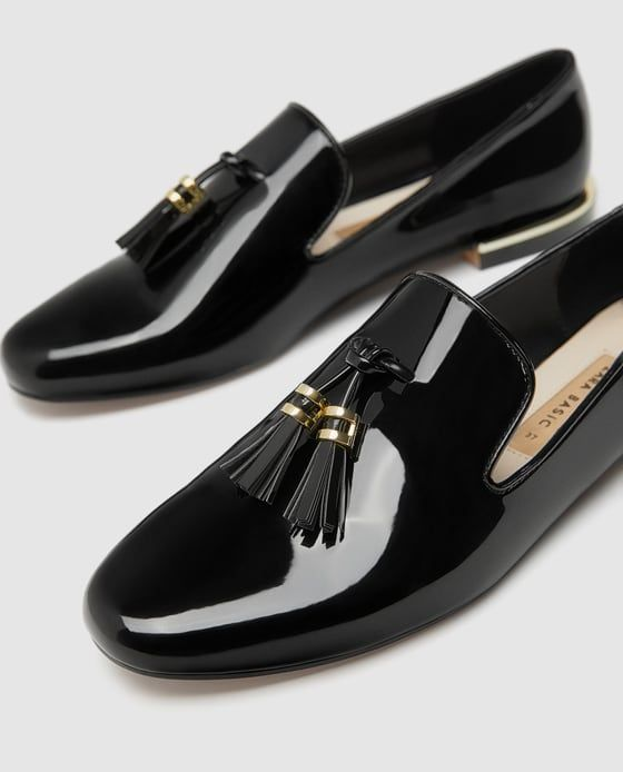 ab2d7bdd7cd7 Image 6 of FAUX PATENT LEATHER TASSEL LOAFERS from Zara