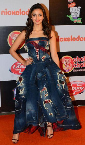 Alia Bhatt in a Swapnil Shinde dress.