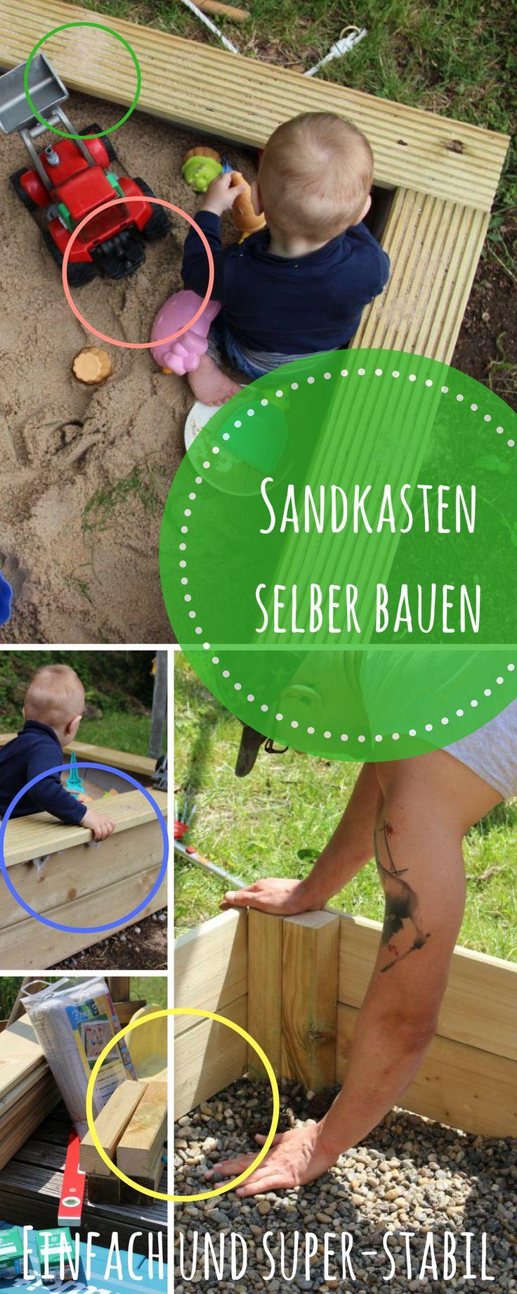 Ein Sandkasten ist für Kinder einfach perfekt und auch für einen kleinen Garten gut geeignet. Mit dieser Vorlage baust Du einen Sandkasten aus Holz selbst - besonders stabil und haltbar. DIY für den Familien - Garten oder Balkon