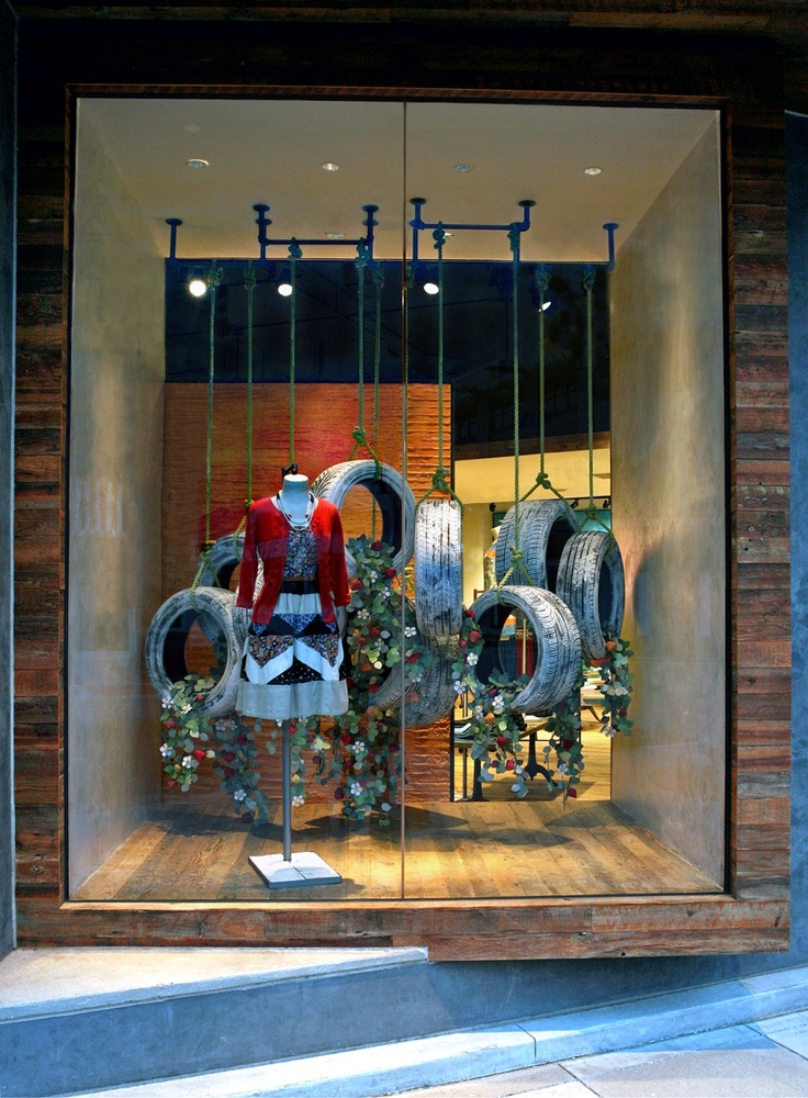 #AnthroEarthDay #2013 #Garden #Anthropologie #Allen Shop | Store | Retail | Window | Display | Visual Merchandising