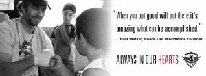 Paul Walker inpiration for GladTown - Bloggers Club