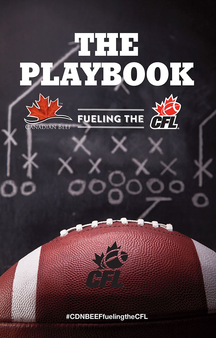 The playbook was handed out during the event. Loblaw's Dietitian Days November 2014 #CDNbeefFuelingTheCFL