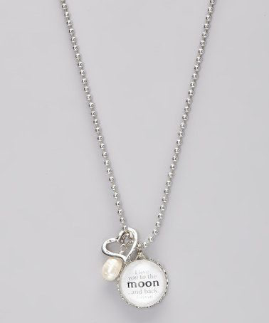 I Love You to the Moon and Back Necklace by Jennifer Dahl Designs