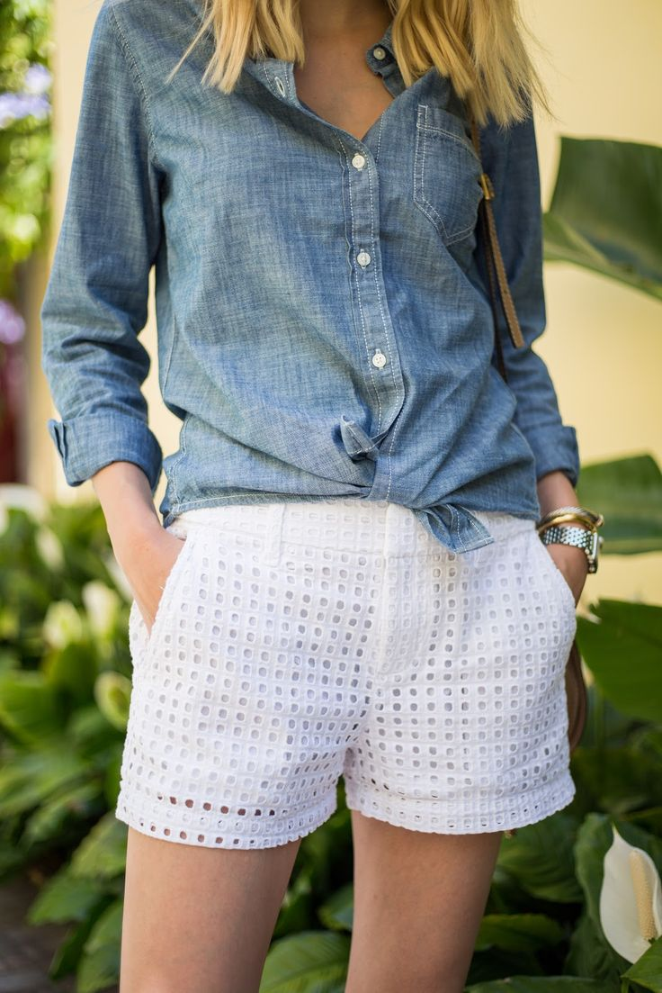 Little Blonde Book by Taylor Morgan | A Life and Style Blog : Eyelet Shorts for Spring