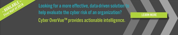 Looking for a more effective, data-driven solution to help evaluate the #cyberrisk of an organization? #Cyber #OverVue provides actionable intelligence.