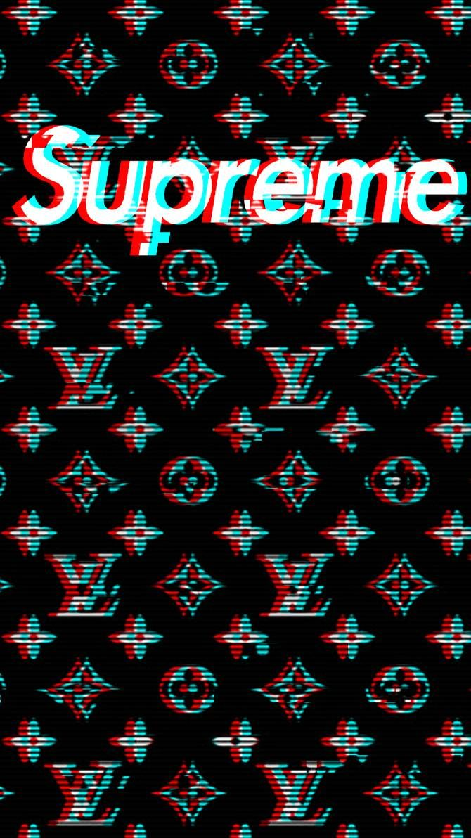 Louis Vuitton Supreme Mobile Wallpaper by ARON260 Обои в