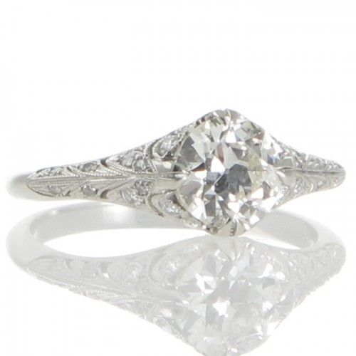 A platinum ring by 'Single Stone' featuring a 0.93ct transition cut diamond. #Rutherford #Melbourne
