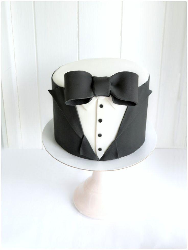 Black Tie Tux James Bond Themed Birthday Cake for Men