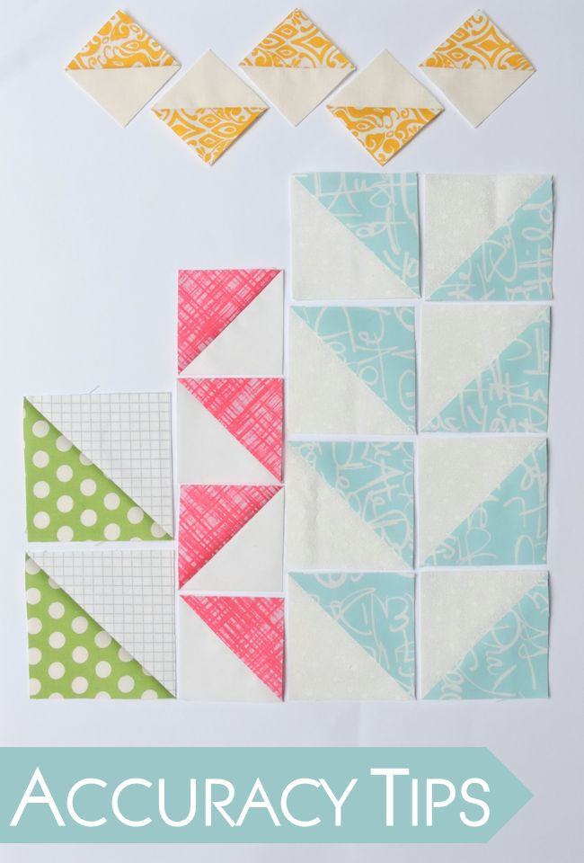 Patchwork & Quilting: Accuracy Tips for Half Square Triangles