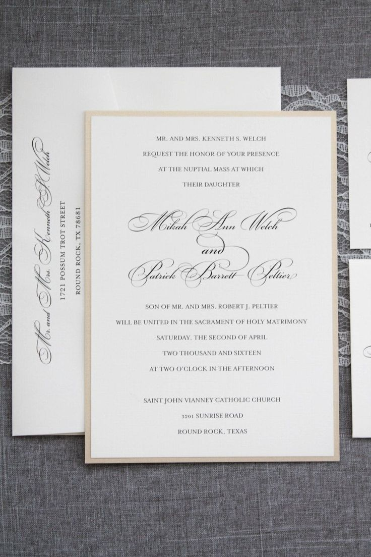 sending wedding invitations months before%0A I love a sophisticated formal and traditional wedding  Send out this  invitation and your guests