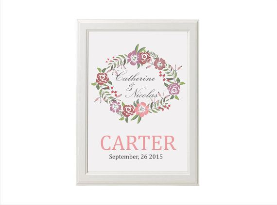 Family name sign  Personalized Wedding family sign  8 x by TheOxee, $20.00