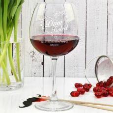 Grawerowany kieliszek do wina DZIEŃ KOBIET idealny na urodziny
