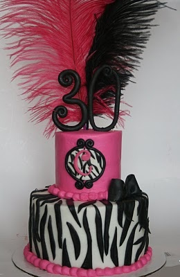 And Everything Sweet: Sweet Caroline's 30th! This is the cake maybe smaller feathers