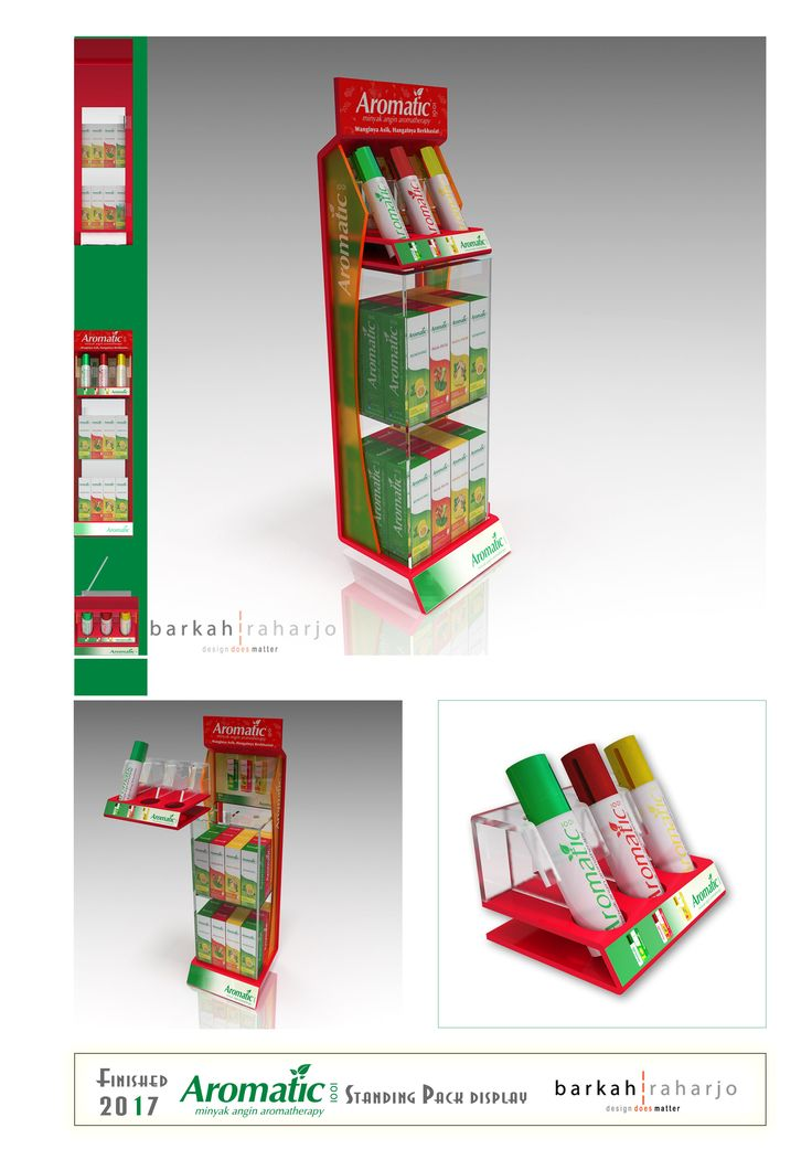 Aromatic - Standing Pack Display