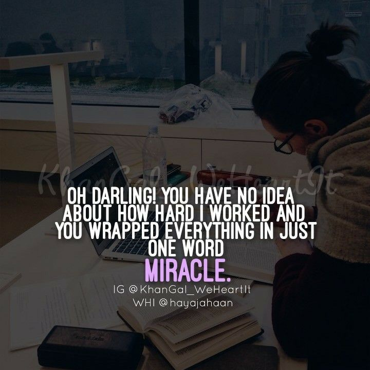 Miracles Alway Happened Withoun Any Doubt Study Motivation