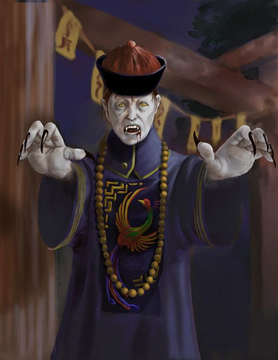 Chinese bloodless Vampires that suck Chi or energy. Anyway, you die.