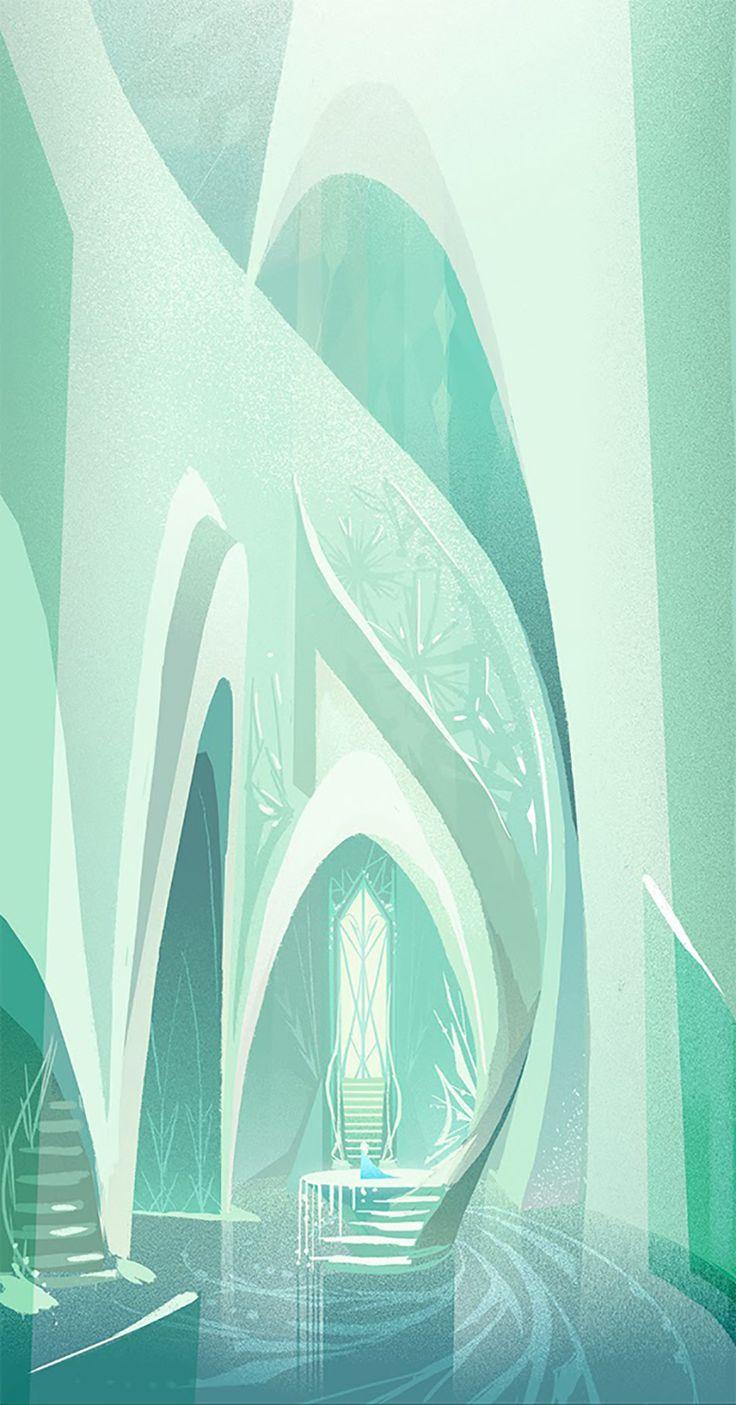 Disney FROZEN concept art, Elsa's Castle