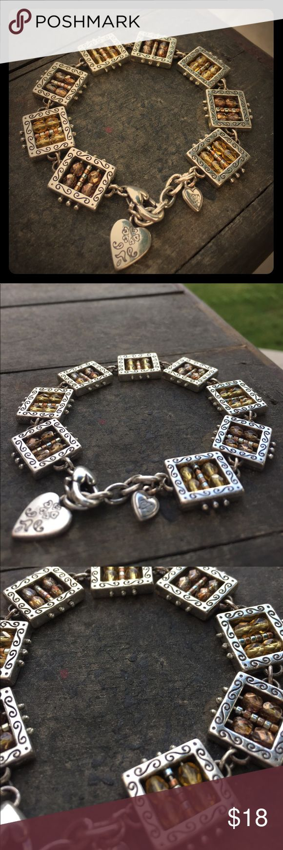 Brighton Bracelet Silver Brighton bracelet with adjustable heart ❤️ clasp. Bracelet is like new. No scratches. Brighton Jewelry Bracelets