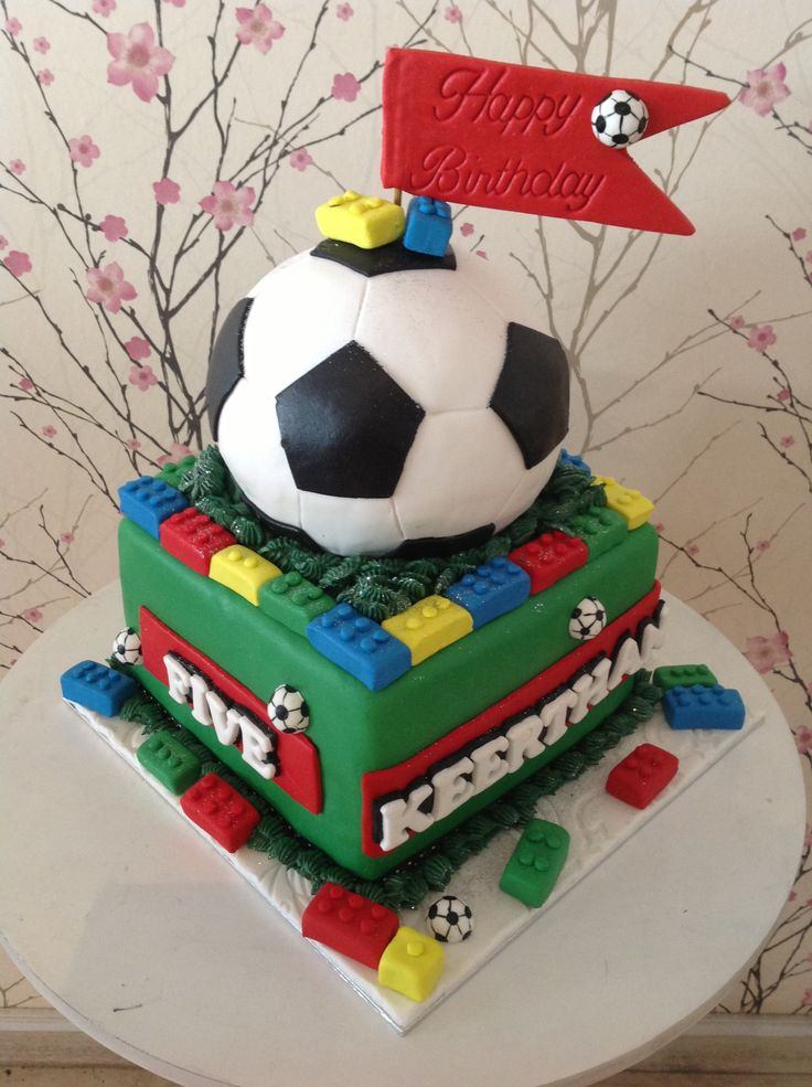 Mix up of Lego and soccer