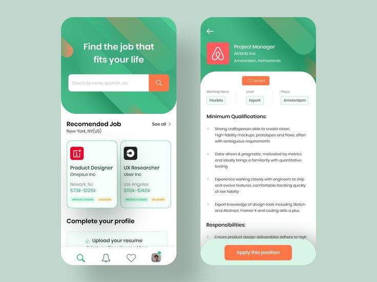 Job Search App in 2020 Job search, Job, Fit life