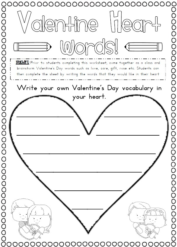 valentine's day writing activities pinterest