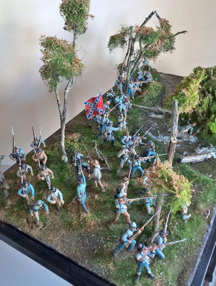 54 mm diorama of Johny Reb Battle of Antietam 17-9-1862, wesr wood sector, by ademodelart