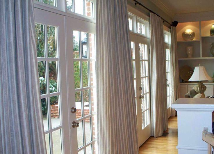 Cortina Para Porta De Vidro Da Cozinha, What Size Curtains For Sliding Glass Doors