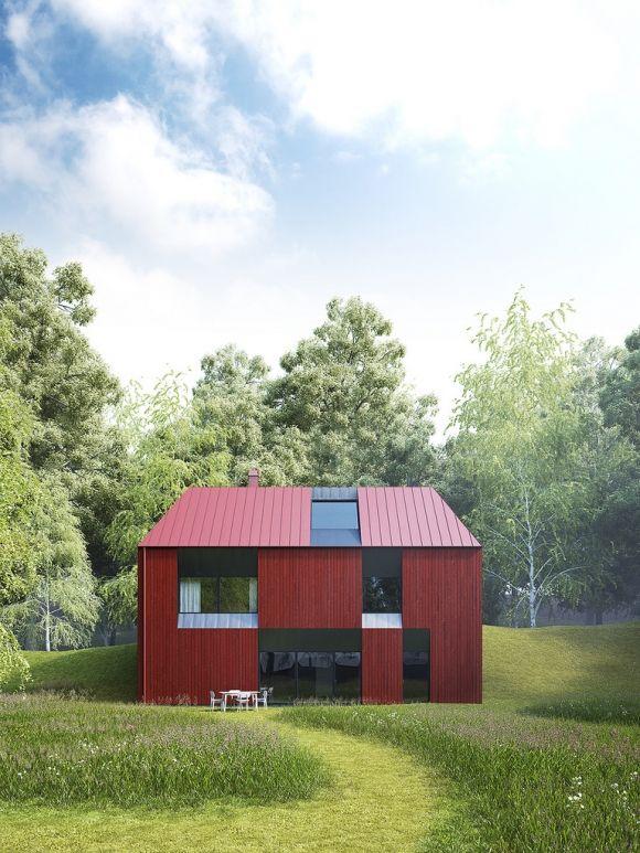 Tiny prefab house by Claesson Koivisto Rune