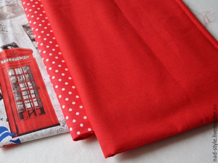 Купить Ткань хлопок однотонный красный 150см - ярко-красный, ткань для творчества, ткань для шитья