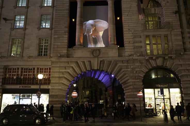 Elephantastic!, Topla-design, Catherine Garret, with the participation of Mathilde Leca, video Domenico Spano, Lumiere London 2016. Image © Matthew Andrews.