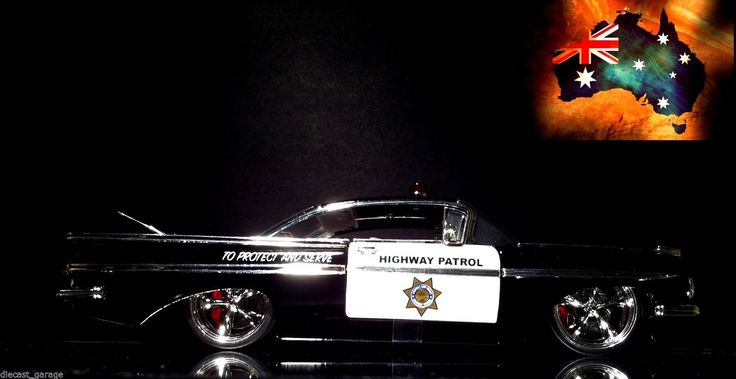 1 24 Scale 1959 Chevy Impala ''Highway Patrol'' Jada | eBay # www.diecastgarage... #diecast #car #die-cast #model #toy #collection #V8 # super car #cruise #hot rod # for sale #muscle #drag #street #collector #1:18 #1:24 #1:43 #1:64