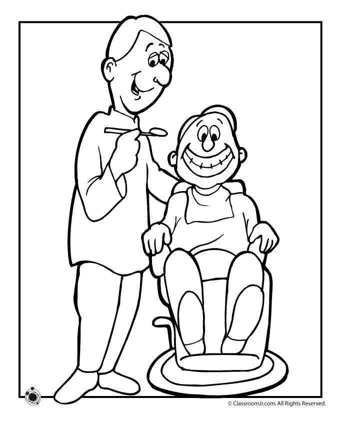 printable dentist coloring pages including male and female dentists teeth and toothpaste
