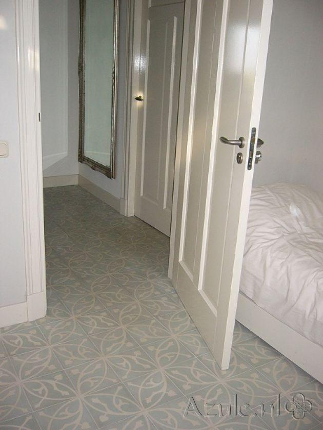 Cement tiles Bedroom - Oval Azule - Project van Designtegels.nl