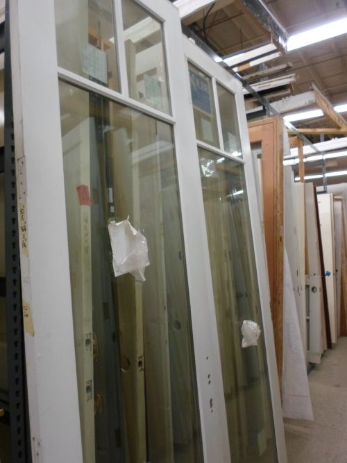 "Pair of 8ft French Doors for sale at the ReStore Price: $150 Dimensions: 29.75""W x 96""H x 1.75""D  All measurements approximate   The Habitat for Humanity of Southern Santa Barbara County ReStore (Habi..."