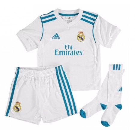 Real Madrid Hjemmebanesæt Børn 17-18 Kort ærmer #Billige Fodboldtrøjer