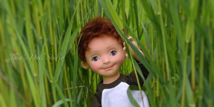 "Archer- 18"" OOAK Natural Fiber Art Doll by Tara's Doll Studio"