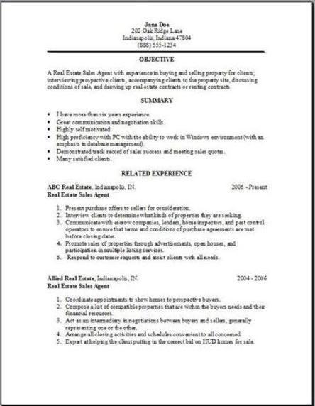 real estate resume2