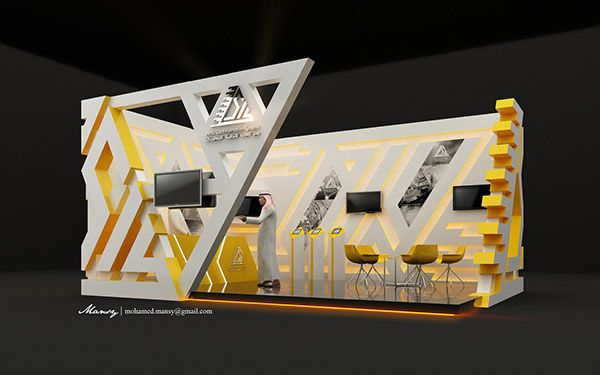 arab sea information systems booth design on behance exhibition booth pinterest design galleries and triangles - Photo Booth Design Ideas