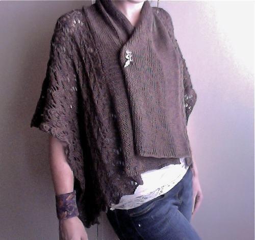 (6) Name: 'Knitting : Shawl Collar Lace Jacket