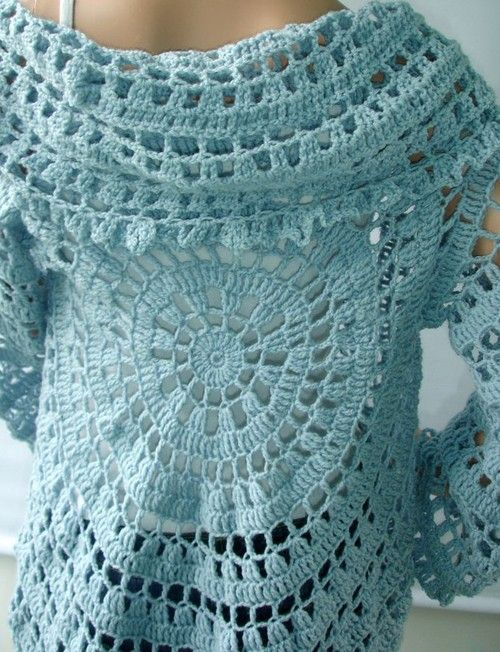 Crocheted sweater- I really want one of these but I do not think I am at this leavel yet.