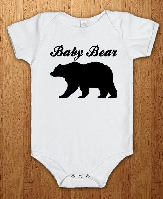 Baby Bear Bodysuit New Baby Onesie Pregnant Surprise Tee Family Pregnancy Announcement New Dad Gift Preggers Father Gift Idea Papa